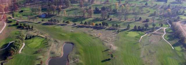 Locust Hills GC - Maple: aerial view of hole #'s 2,3,5 & 6