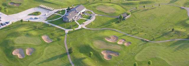 Railside GC: clubhouse (aerial)