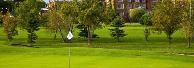 3rd green at Dunston Hall