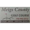 Meigs County Golf Course Logo