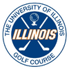 Blue at University of Illinois Golf Course Logo