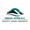 The Cedar River at Shanty Creek Logo