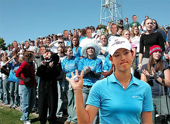 The legions of golfer Michelle Wie's fans!