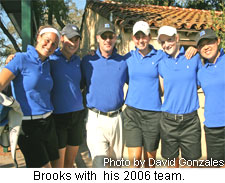 Brooks with  his 2006 team