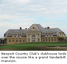 Newport Country Club's clubhouse