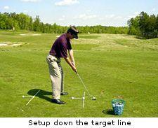Setup down the target line