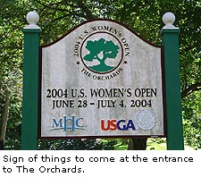 Orchards Golf Sign