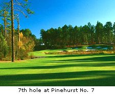 7th hole at Pinehurst No. 7
