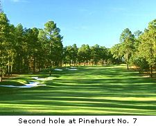 Second hole at Pinehurst No. 7