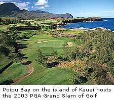 Poipu Bay on Kauai Island