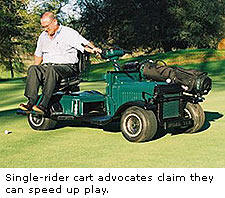 Single rider cart
