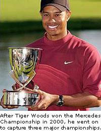 Tiger Woods at Mercedes Championship