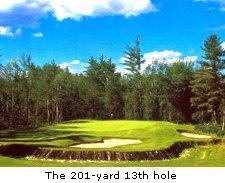 The 201-yard 13th hole