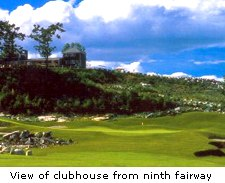 View of clubhouse from ninth fairway
