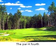 The par-4 fourth