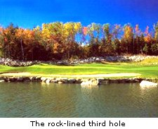 The rock-lined third hole