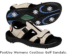 CoolJoys Golf Sandal -- Similar technology components as the