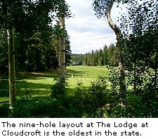 The 9 hole layout at The Lodge at Cloudcroft