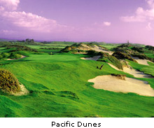 The incredible 13th hole at pacific Dunes